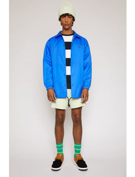 Face Print Coach Jacket Electric Blue by Acne Studios