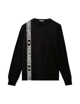 Tape Logo Tee   Black by Dsquared2