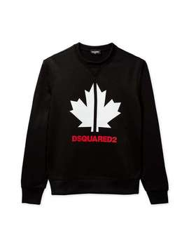 Canada Leaf Logo Sweat   Black by Dsquared2