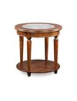 Furniture Of America Granvia Dark Cherry Glass End Table by Lowe's