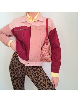Extra Dreamy Dusty Pink / Burgundy Patchwork by Depop