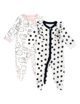 Mac & Moon 2 Pack Cat Long Sleeve Footies by Mac & Moon
