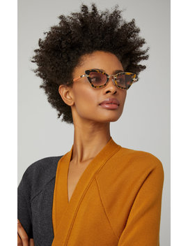 Bad Apple Square Frame Tortoiseshell Acetate Sunglasses by Karen Walker