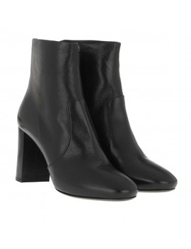 Madras Booties Leather Black by Prada
