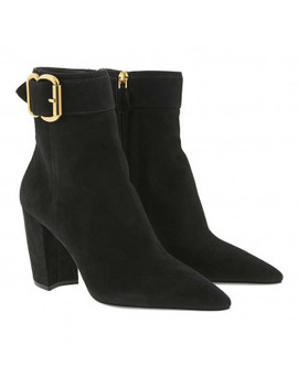 Ankle Boots Leather Black by Prada