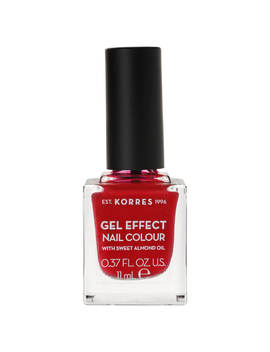 Korres Natural Gel Effect Nail Colour   Rosy Red 11ml by Korres