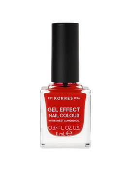Korres Natural Gel Effect Nail Colour   Coral Red 11ml by Korres