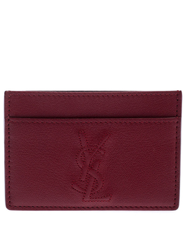 Saint Laurent Paris Red Leather Card Case by The Luxury Closet