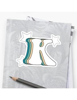 Retro K (Green) Sticker by Kapatton99