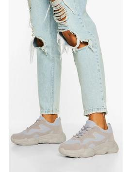 Lace Up Bubble Sole Trainers by Boohoo