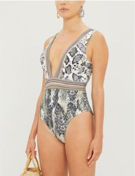 Babita Snakeskin Print Swimsuit by Ted Baker