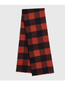 Buffalo Check Wool Woven Scarf by Allsaints