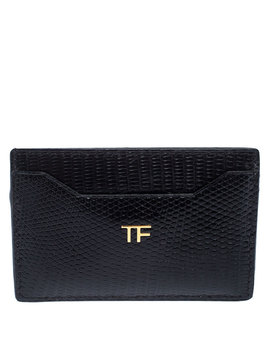 Tom Ford Black Lizard Leather Card Holder by The Luxury Closet