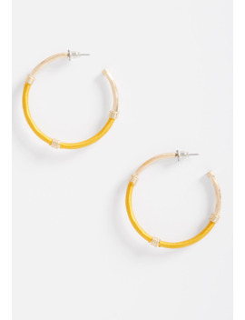 Gold Threaded Hoop Earrings by Maurices