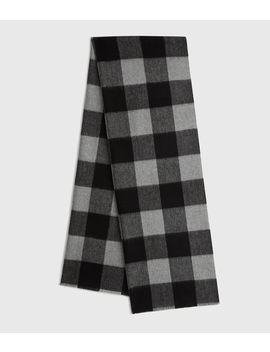 Buffalo Check Woven Scarf by Allsaints