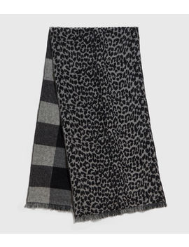 Reversible Prowl Wool Blend Woven Scarf by Allsaints