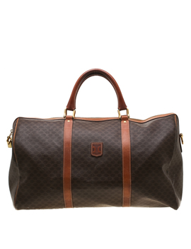 Céline Brown Macadam Coated Canvas And Leather Duffle Bag by The Luxury Closet