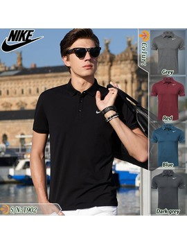 Golf Casual Sportswear Nike Stand Collar Short Sleeved Polo Shirt Quick Drying T Shirt Casual Shirt by Shopee