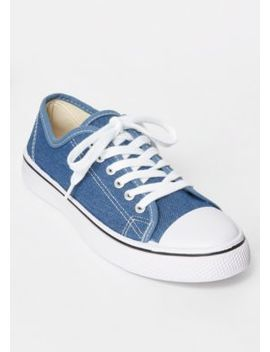 Denim Low Top Canvas Sneakers by Rue21