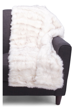 Profiterole Tipped Luxe Faux Fur Throw by Tj Maxx
