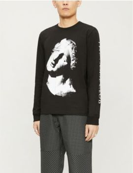 Noise Scoop Neck Cotton Jersey T Shirt by Mcq Alexander Mcqueen