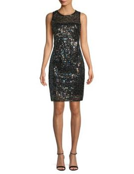 Sequin Sheath Dress by Laundry By Shelli Segal