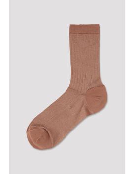 Lurex Rib Sock by Filippa K
