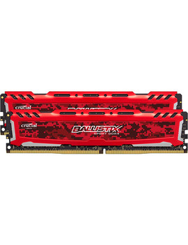 Ballistix 16 Gb Sport Lt Series Ddr4 2666 M Hz Udimm Memory Kit (2 X 8 Gb, Red) by Ballistix