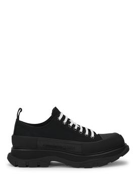 Tread Black Canvas Sneakers by Alexander Mc Queen