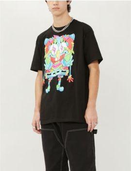 Sponge Bob X J. Balvin Cotton Jersey T Shirt by Spongebob X J Balvin