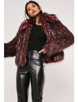 Premium Brown Tipped Faux Fur Coat by Missguided