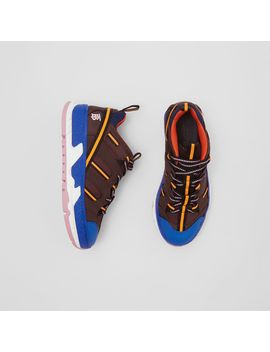 Nylon And Mesh Union Sneakers by Burberry