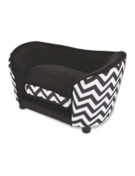 Black Pet Collection Sofa Pet Bed by Aldi