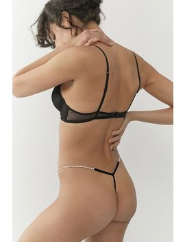 Out From Under   String Jade à Strass by Out From Under