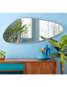 Gold Metal Mirror 57 X 127 Cm    Habel by Maisons Du Monde