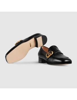 Leather Loafer With Double&Nbsp;G by Gucci