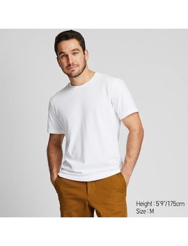 Men Dry Crew Neck Short Sleeved T Shirt (2) by Uniqlo