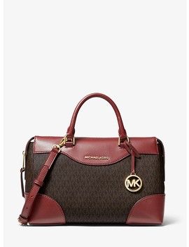 Maya Large Logo And Leather Satchel by Michael Michael Kors