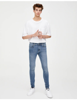 Super Skinny Distressed Jeans by Pull & Bear