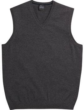 Traveler Collection Pima Cotton V Neck Sweater Vest  by Jos. A. Bank