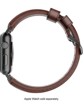 Classic Leather Watch Strap For Apple Watch ® 42mm And 44mm   Brown by Nomad