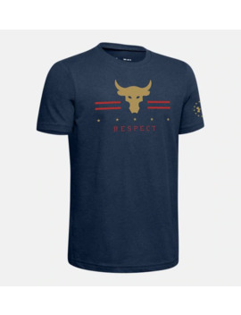 Ua Freedom X Project Rock Rpt Boys' Short Sleeve Shirt by Under Armour