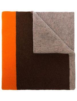 Multicoloured Colour Block Wool Scarf by Ganni
