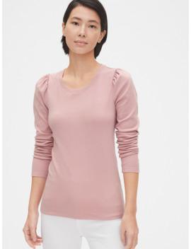 Cozy Puff Sleeve Crewneck T Shirt by Gap