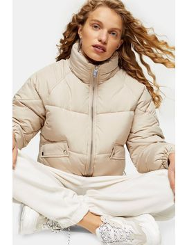 Classic Cream Padded Puffer Jacket by Topshop