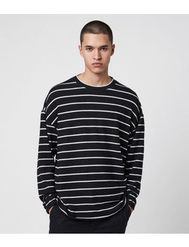 Tobias Long Sleeve Crew T Shirt by Allsaints