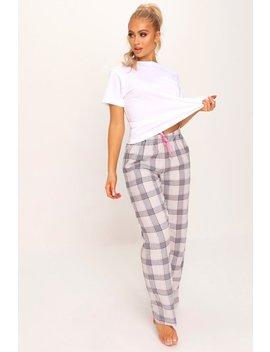 Grey Short Sleeve Check Pyjama Set by I Saw It First