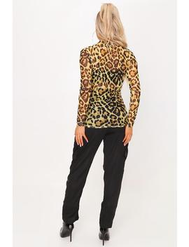 Yellow Yellow Leopard Print Mesh Top by I Saw It First