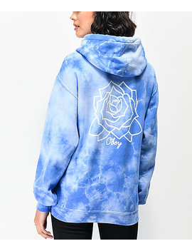Obey Mira Rosa Blue Tie Dye Hoodie by Zumiez