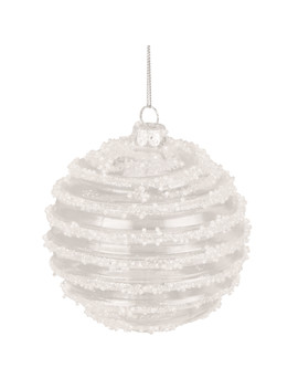 Clear White Glitter Swirl Bauble by The Range